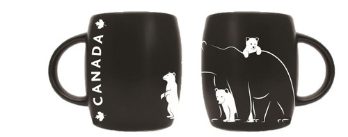 Bear and cubs etched mug