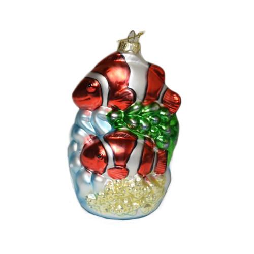 Clownfish glass ornament