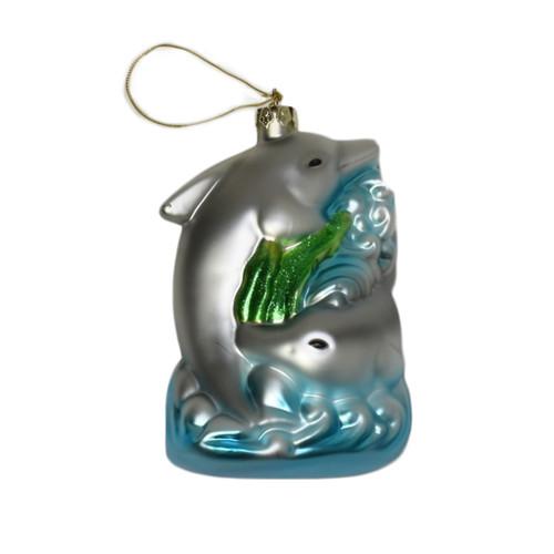 Glass Dolphin ornament