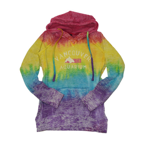 Rainbow hoodie with dolphin