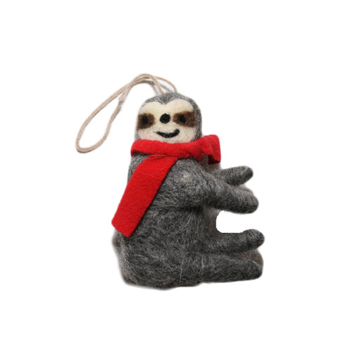 wool sloth ornament