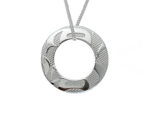 Silver Pewter Eagle (Equilibrium) Pendant Necklace