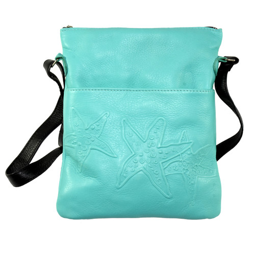 Embossed Leather Solo Bag - Sea Star Design