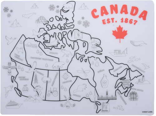 Silicone Placemat - Canada Map