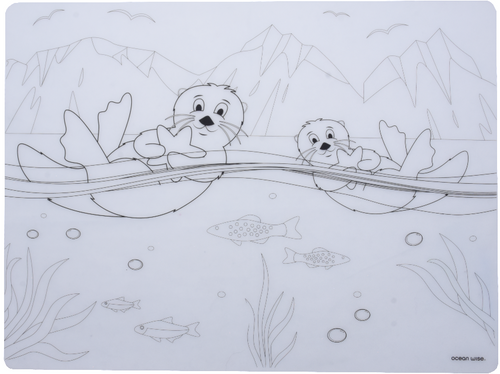 Silicone Placemat - Sea Otters