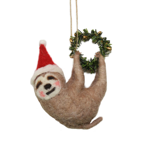 Wool Sloth ornament