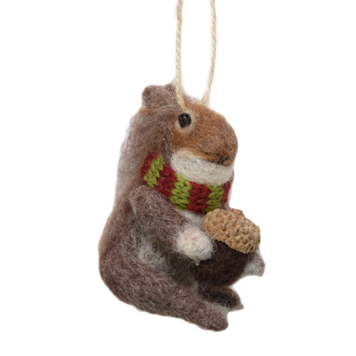 Wool Squirrel ornament