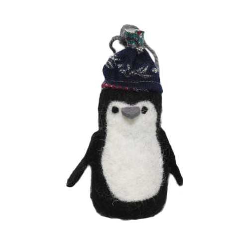 Wool Penguin ornament