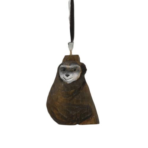 Wooden sloth ornament