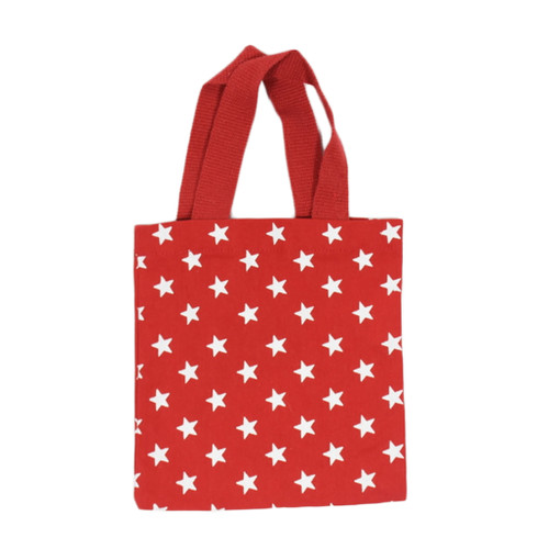 Red tote bag with white stars
