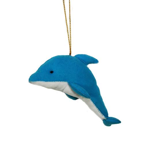 Cloth Blue Dolphin Ornament