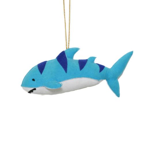 Cloth Blue Shark Ornament