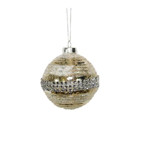 Vintage style glitter ornament