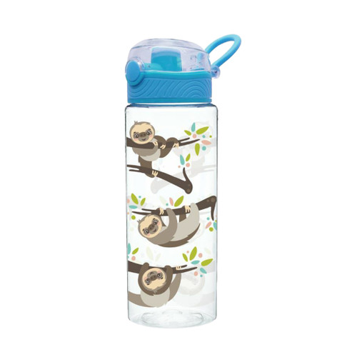 Water bottle with hanging sloth