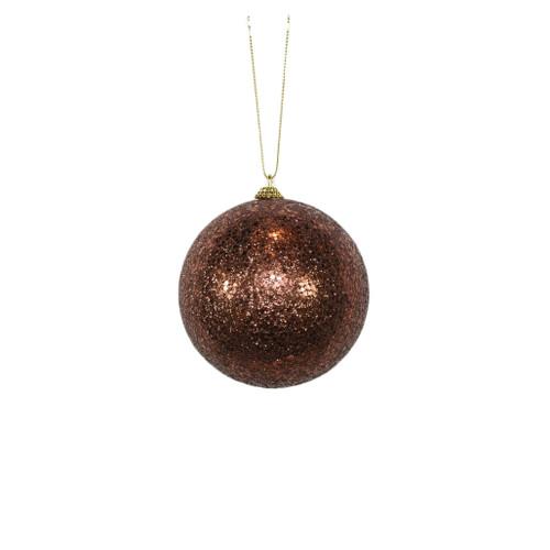 Brown Glitter ball ornament
