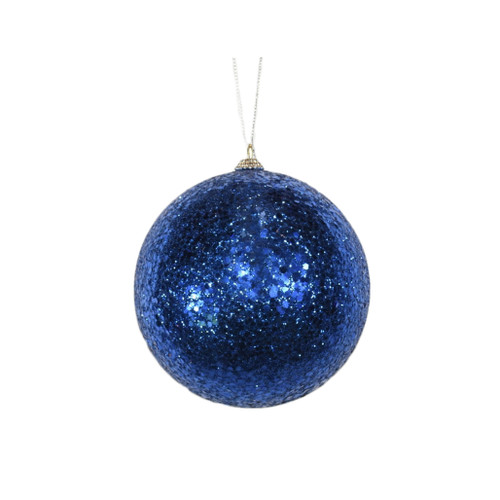 Blue Glitter ball ornament