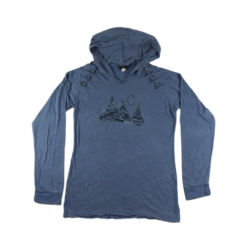 Grey/Blue Mountain Hoodie