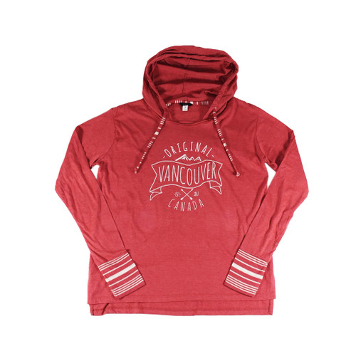 Vancouver Original Tunic Hoodie, Red