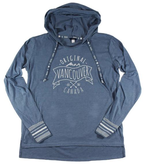 Vancouver Original Tunic Hoodie, Blue