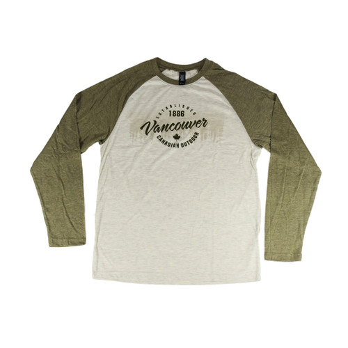 Long Sleeve Vancouver t-shirt, green sleeves