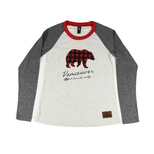 Long sleeve t-shirt with plaid bear