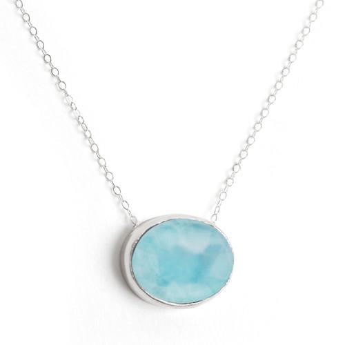 Larimar Oval Necklace