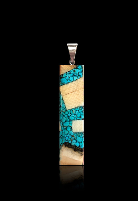 Turquoise and Mammoth Ivory Pendant