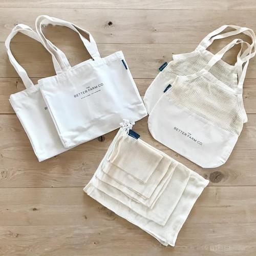 Organic Cotton Shopping Bag Set