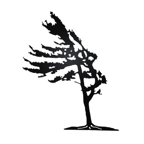 Windswept Pine Tree, Metal artwork, wall
