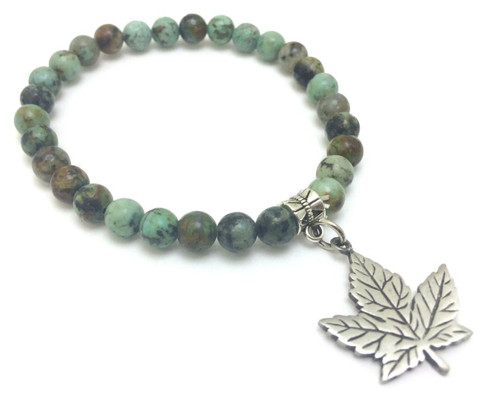 Maple Leaf Agate Bracelet
