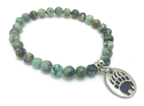 Bear Paw Agate Bracelet