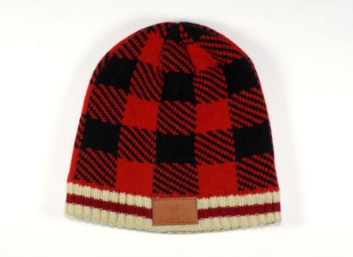 Plaid Knit Toque