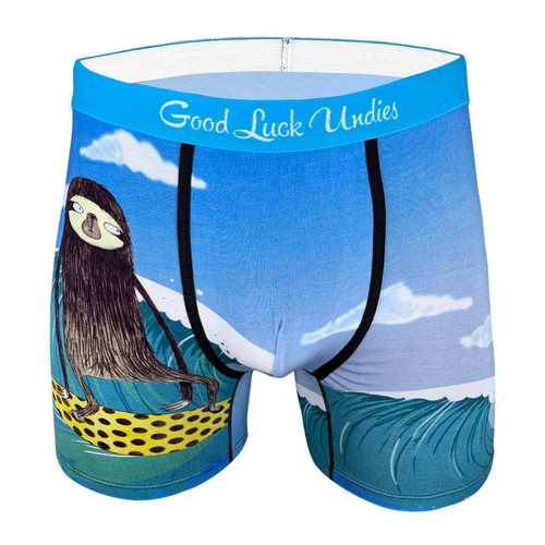 Surfing Sloth Boxer Shorts