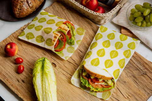 Vegan Wax Sandwich Bags - 2 pack
