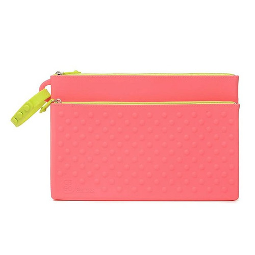 Silicone Wipes Clutch in Pink