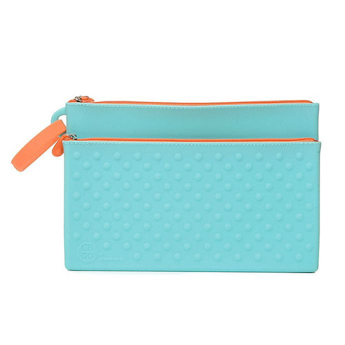 Silicone Wipes Clutch in Blue