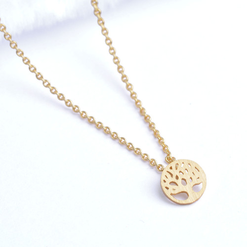Tree of Life Necklace - Small Gold Plated