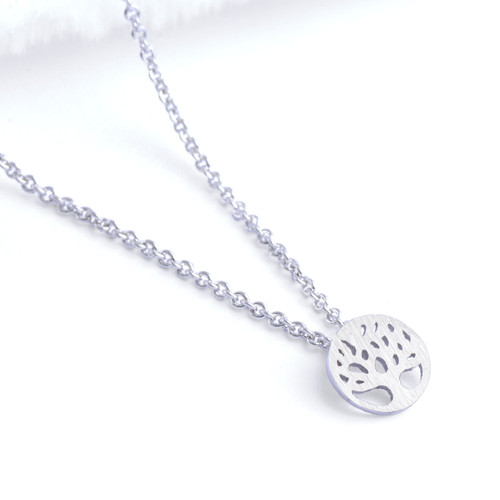 Tree of Life Necklace - Small Silver Plated