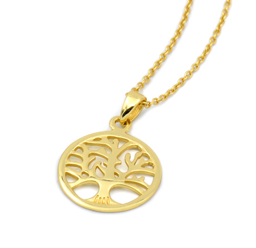 Tree of Life Necklace - Large Gold Plated