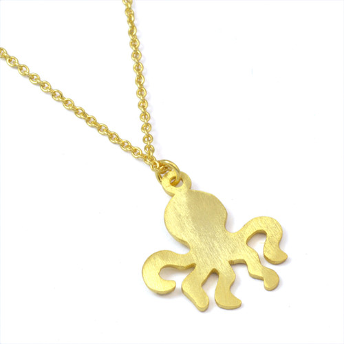 Gold Plated Octopus Necklace