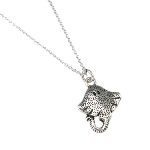 Silver Plated Ray Necklace