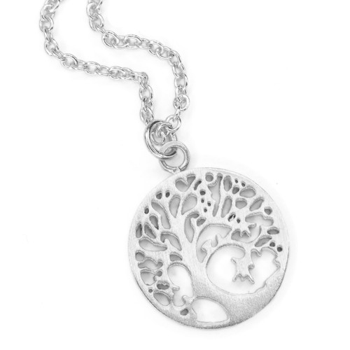 Tree of Life Necklace - Large Silver Plated