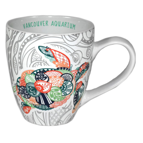 Coffee Mug with artistic sea turtle picture