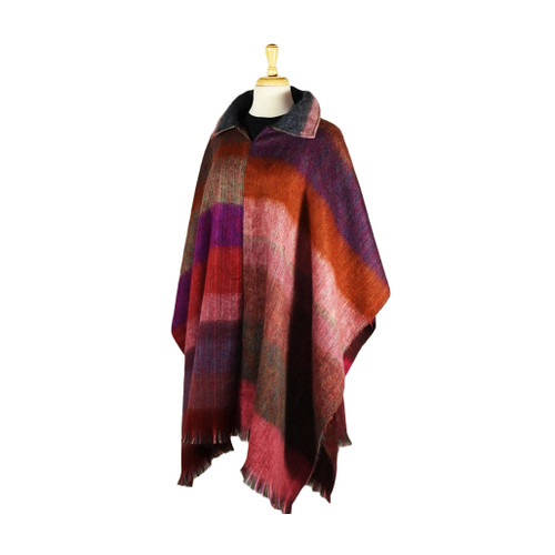 Alpaca Poncho 100% recycled material