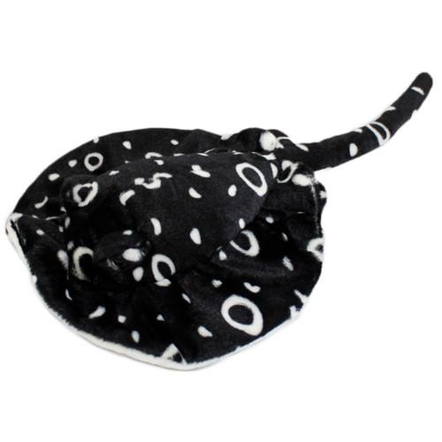 Black Stingray stuffy with white circles