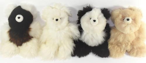 Alpaca fur teddy bear