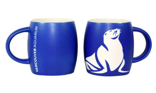 Sea Lion Etched Mug - Blue