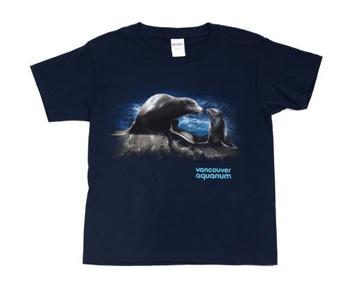 Sea Lion Smooch Youth  T-Shirt