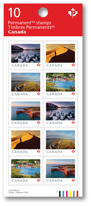 Canadian Stamps Sheet of 10