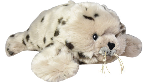"Harbour Seal stuffy, 13"", side view"